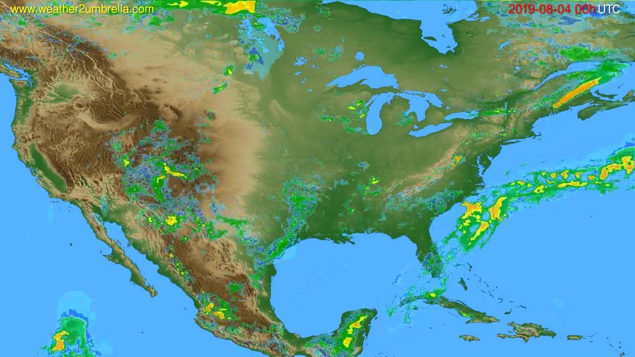 Radar forecast USA & Canada // modelrun: 12h UTC 2019-08-03