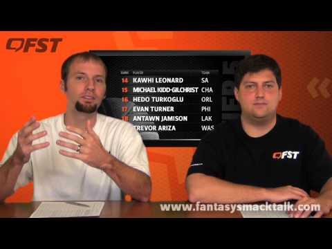 2012-2013 Fantasy Basketball Small Forward Tiers and Rankings