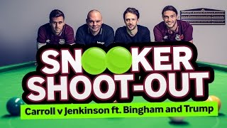 West Ham's Andy Carroll And Carl Jenkinson Go Head-To-Head At Snooker