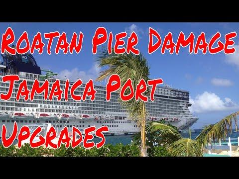 MSC Armonia caused $10 Million Damage to Port in Roatan -Jamaica Adding New Docks To Port Facilities