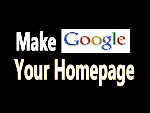 how to set as homepage chrome