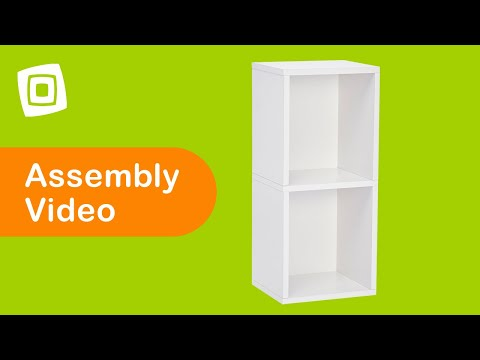 Video for Eco Friendly White Modular Storage Double Cube Plus