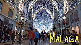 Огни Малаги - Рождественская и Новогодняя иллюминация видео