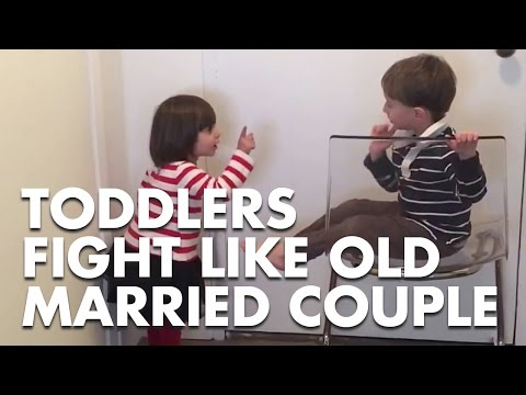 Watch Toddlers Fight Like Old Married Couple