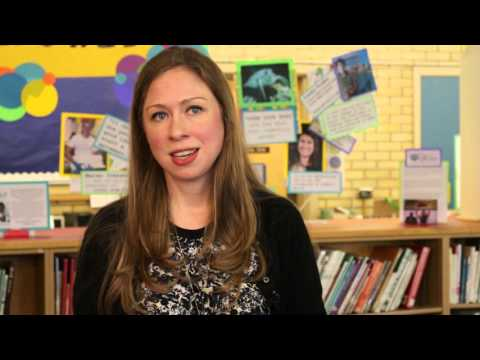 Chelsea Clinton visits Mt. Tabor Middle School