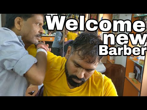 Download Video ASMR head massage and neck cracking by new indian barber