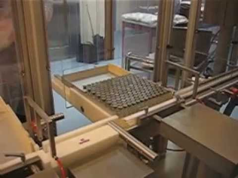 Tray Loader for vials or bottles