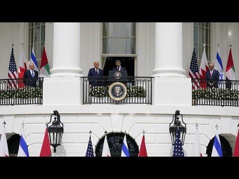 ΗΠΑ: Υπεγράφη η συμφωνία ομαλοποίησης σχέσεων ανάμεσα σε Ισραήλ – Μπαχρέιν και ΗΑΕ…