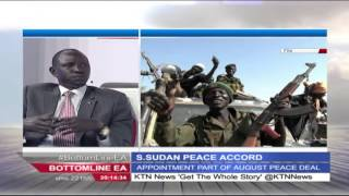 Bottomline East Africa Interview: The South Sudan Peace Accord, 12th February 2016