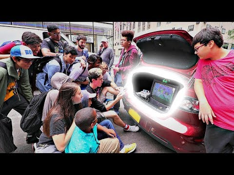 [DAY 3/10] Playing the SNES Out the Trunk of a Car! (While Waiting for the SNES Classic!) NYC