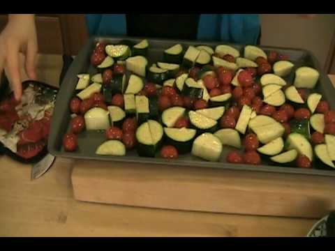 "Roasted Zuchini Recipe / How-to Video - Laura Vitale ""Laura In The Kitchen"" Episode 28"