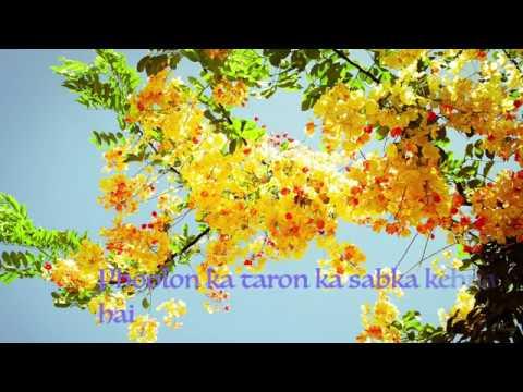Video Phoolon Ka Taron Ka Sabka Kehna Hai Instrumental With Lyrics download in MP3, 3GP, MP4, WEBM, AVI, FLV January 2017