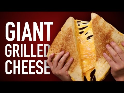 DIY Giant Grilled Cheese Sandwich