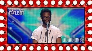 Vino de Guinea Ecuatorial para triunfar con su poesía   Audiciones 5   Got Talent España 2018