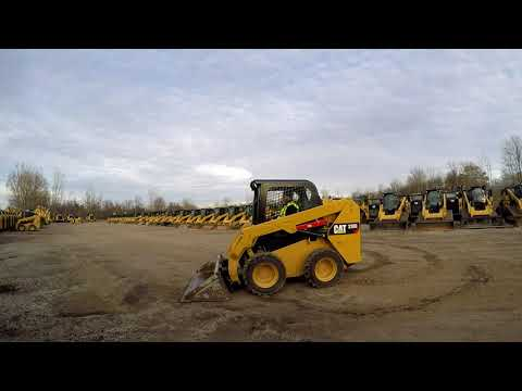 CATERPILLAR SCHRANKLADERS 236D equipment video tRwaagAG9rk