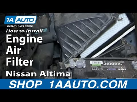 How To Install Replace Engine Air Filter 1993-01 Nissan Altima