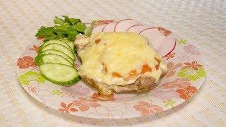 Мясо по-французски в духовке, рецепт из свинины с помидорами
