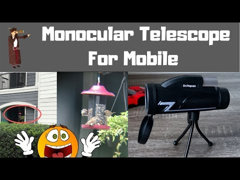 Monocular telescope for mobile unboxing review smartphone zoom