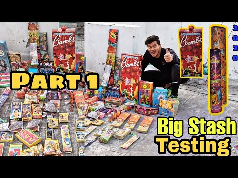 Cheapest Crackers Stash Testing Part 1 | Different type of Crackers Testing| Diwali 2020
