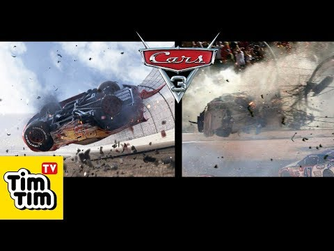 CARS 3 Lightning McQueen Crash in Real Life + Characters in Real Life