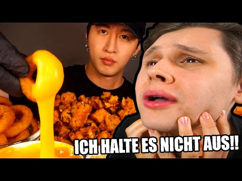 Ich FASTE und schaue mir ESSENS VIDEOS AN🤯🤤 - Try not to EAT🍖