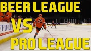 Beer League VS Pro League Players - Sheffield Steelers Elite Ice Hockey League