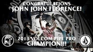 John John Florence Wins Third Volcom Pipe Pro