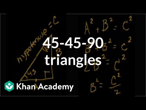 Special Right Triangles Intro Part 1 Video Khan Academy