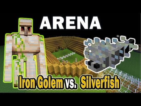 Minecraft Arena Battle Iron Golem vs. Silverfish