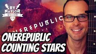 Counting Stars Guitar Lesson (OneRepublic) Acoustic Fingerstyle Guitar Tutorial with TAB