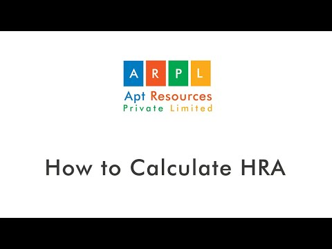 How to calculate HRA