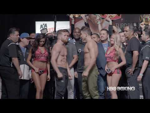 Canelo-Golovkin Weigh-In Recap (HBO Boxing News) (видео)