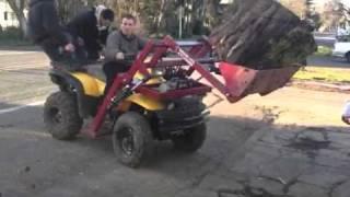 Video Ground hog atv front loader on polaris sportsman 500 lifting 700lb round of wet cherry MP3, 3GP, MP4, WEBM, AVI, FLV Mei 2017