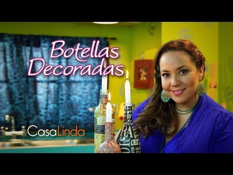 Botellas decoradas: Técnica