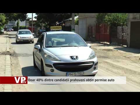 Doar 40% dintre candidații prahoveni obțin permise auto
