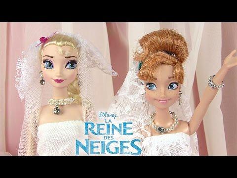 Reine des neiges Robes de mariée Frozen Dolls Wedding Dresses