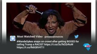 15 November 2016 – Comedian Wanda Sykes was booed after delivering a joke about president elect Donald Trump.