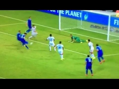 Greece Goal Against Costa Rica World Cup 2014