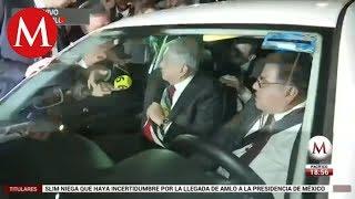 Tras discurso en el Zócalo, AMLO regresa a su casa en Tlalpan