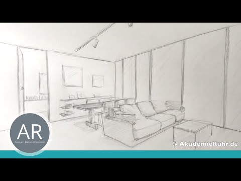 Zeichnen lernen –  Akadmie Ruhr, Tutorials – Perspektivisch zeichnen, Perspektive.