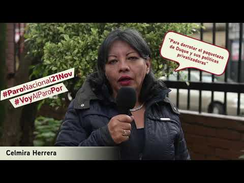 Celmira Herrera va al #ParoNacional21N