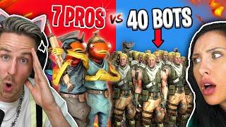 7 FORTNITE PROS (lost CLAN!) vs. 40 NOSKIN Spieler!