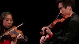 Mayu Konoe (viool) en Takehiro Konoe (altviool) - Nationale Finale Prinses Christina Concours 2015