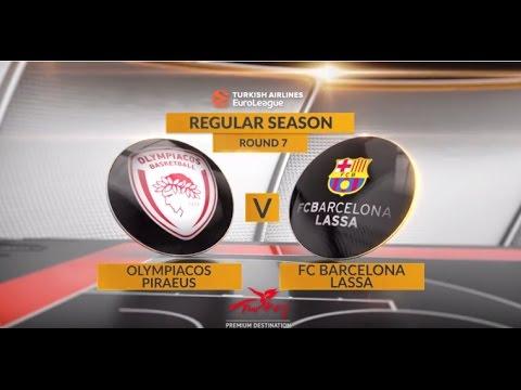 EuroLeague Highlights RS Round 7: Olympiacos Piraeus 59-52 FC Barcelona Lassa