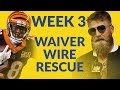 Get Your Fantasy Football Rescue From The Waiver Wire, Including Brown, Bernard, FitzMagic n More!