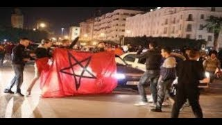 فرحة هيستيرية جماهير العيون الشرقة بفوز المنتخب المغربي