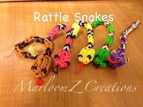 Rainbow Loom Rattle Snake Charm