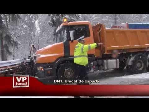DN1, blocat de zapada
