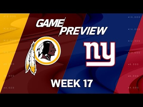 Video: Washington Redskins vs. New York Giants | NFL Week 17 Game Preview | NFL