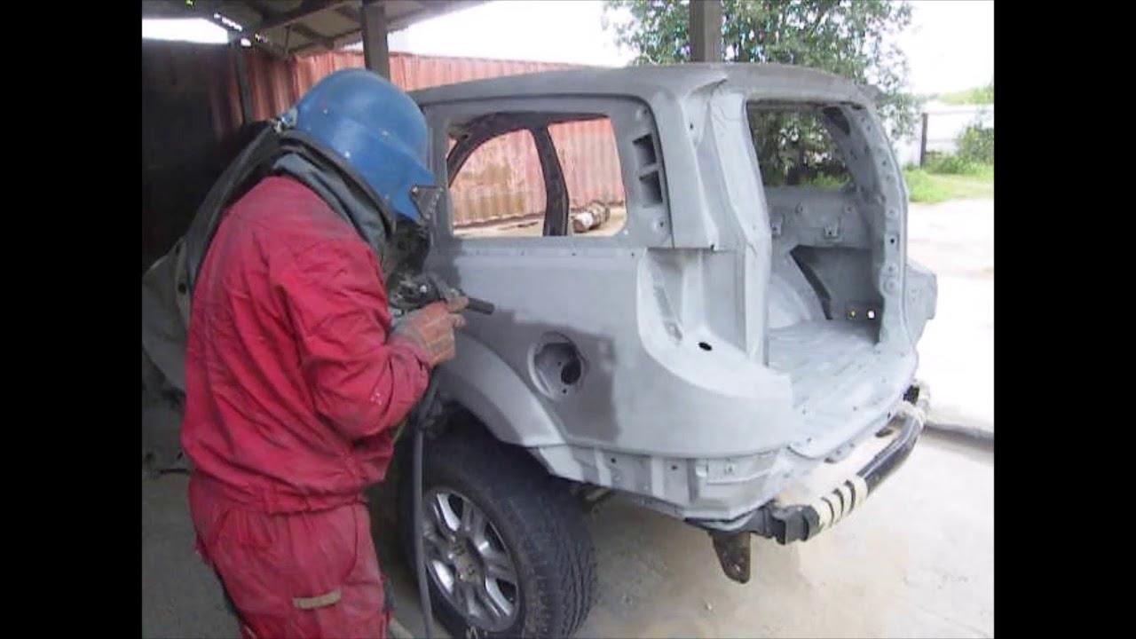 Цинкование кузова внедорожника методом сверхзвукового газодинамического напыления(HVAF)